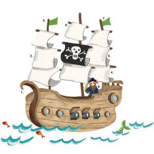 """Наклейки для декора """"Пиратский корабль"""""""