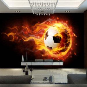 """Фотообои """"Огненный футбол"""""""