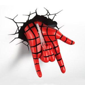 3D светильник Spiderman Hand