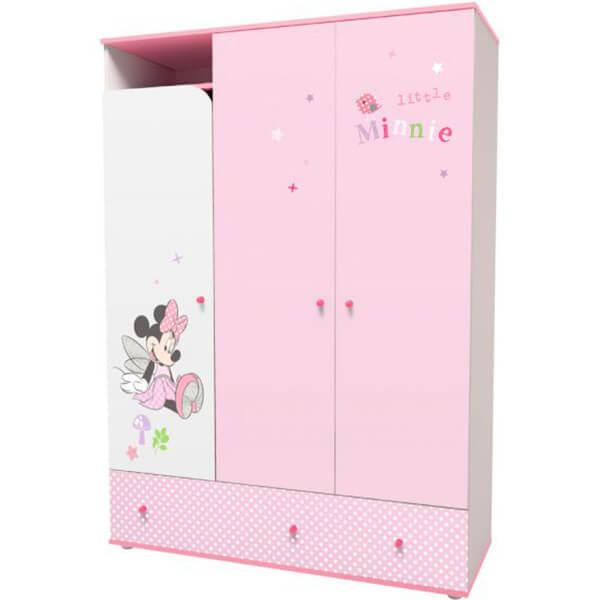 Шкаф трехсекционный «Минни Маус-Фея»
