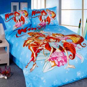 Комплект постельного белья детский camomilla, голубой