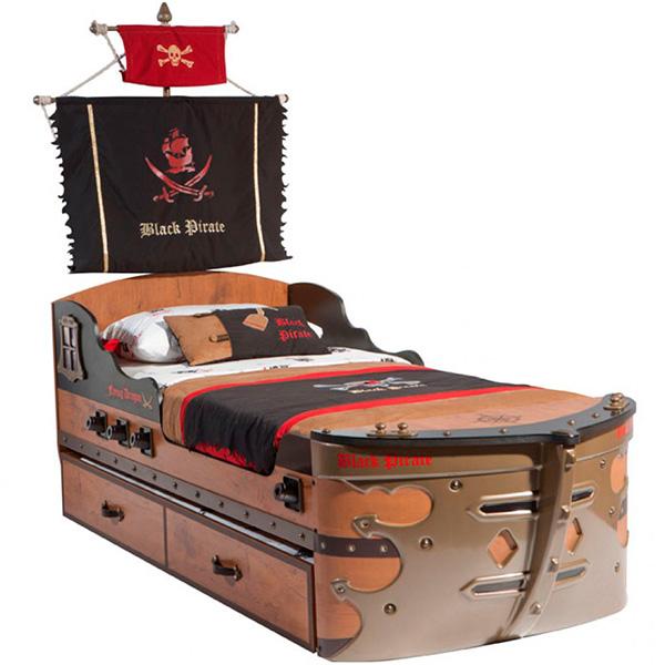 Кровать-корабль Black Pirate
