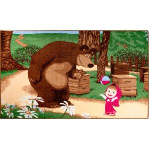 """Ковер """"Маша и Медведь с мячом"""""""