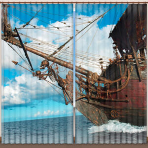 """Фотошторы """"На палубе пиратского корабля"""""""