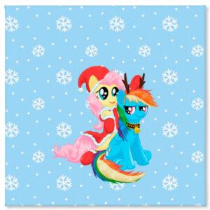 Холст Rainbow Dash and Fluttershy