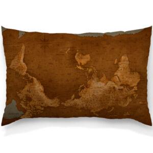 "Декоративная подушка ""Карта мира"""