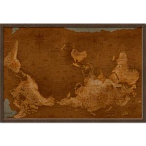 """Холст """"Карта мира"""""""