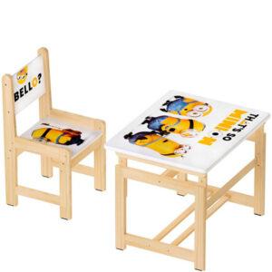 """Комплект растущей детской мебели """"Миньоны"""""""