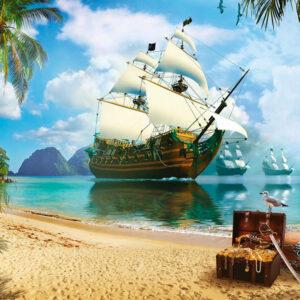 """Фотообои """"Пиратская гавань"""""""