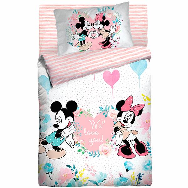 Ясельное постельное белье Mickey & Minnie